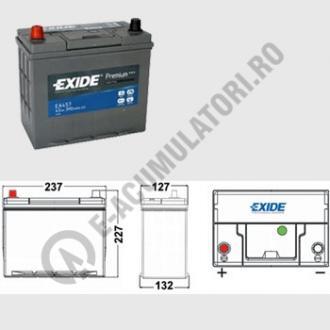 Acumulator Auto Exide Premium Asia 45 Ah cod EA457 borne inverse-big
