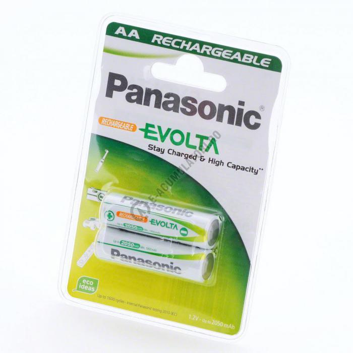 Acumulatori Panasonic AA R6 Evolta 2050 mAh 1600 de cicluri, blister 2 bucati-big