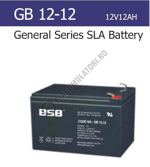 Acumulator VRLA BSB 12V 12 Ah cod GB12-12-big