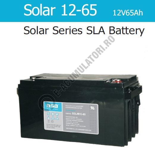 Acumulator VRLA cu GEL BSB 12 V 65 Ah cod SOLAR12-65-big