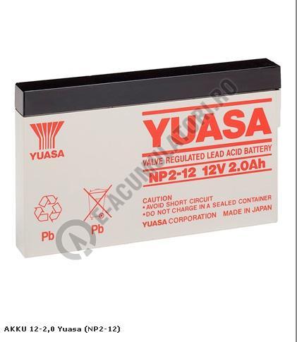 Acumulator VRLA Yuasa 12V, 2Ah NP2-12-big