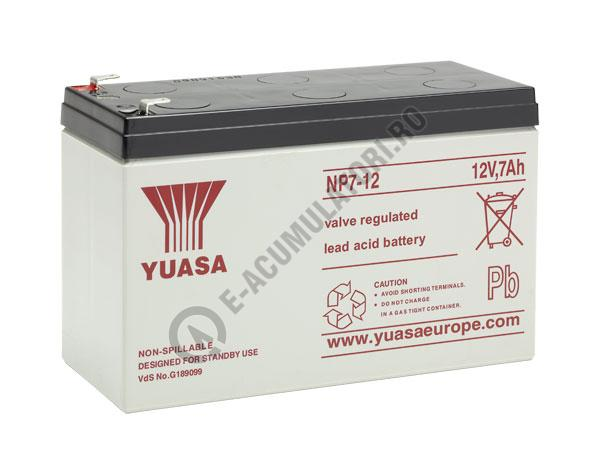 Acumulator VRLA Yuasa 12V, 7Ah NP7-12-big