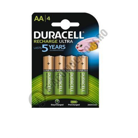 Acumulatori Duracell Duralock AA 2500 mAh, blister 4 buc, preincarcati-big