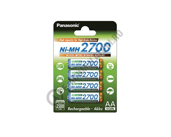 Acumulatori Panasonic AA, 2700 mAh, blister de 4 buc. BK-3HGAE/4BE-big