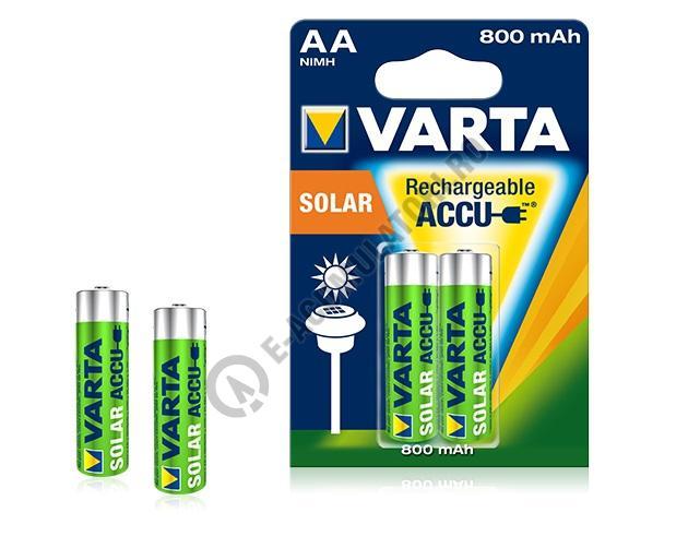 Acumulatori Varta AA 800 mAh, pentru aplicatii solare, blister de 2 buc. cod 56736-big