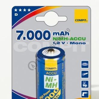 Acumulator Compit D, Mono, R20, NiMH, 7000mAh, seria Profi-big