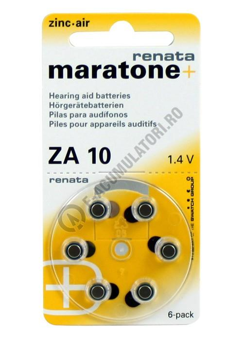 Baterie acustica RENATA ZA10 blister, 6 buc-big