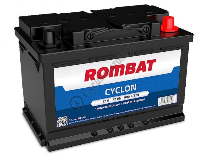 Baterie Auto Rombat Cyclon Calciu 12 v 72 Ah-big