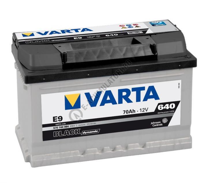 BATERIE AUTO VARTA BLACK 70 Ah cod E9 - 5704090643122-big