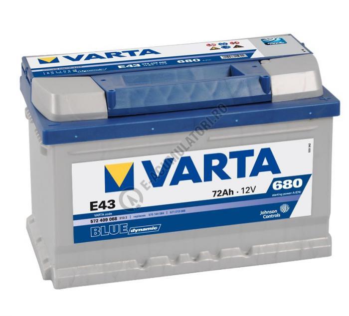 BATERIE AUTO VARTA BLUE 72 Ah cod E43 - 5724090683132-big