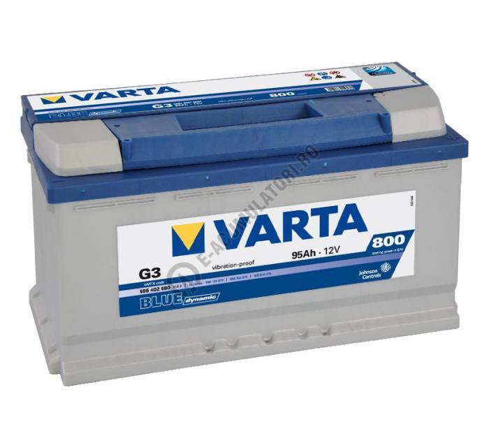 BATERIE AUTO VARTA BLUE 95 Ah cod G3 - 5954020803132-big