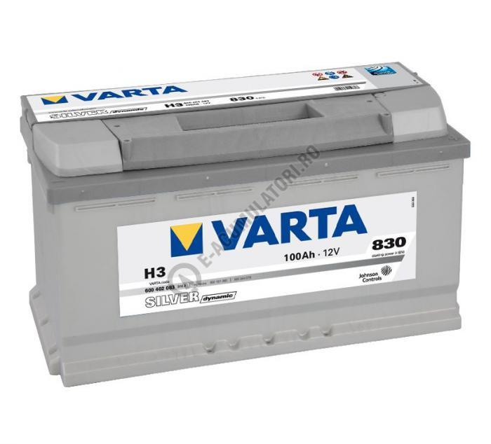 BATERIE AUTO VARTA SILVER 100 Ah cod H3 - 6004020833162-big