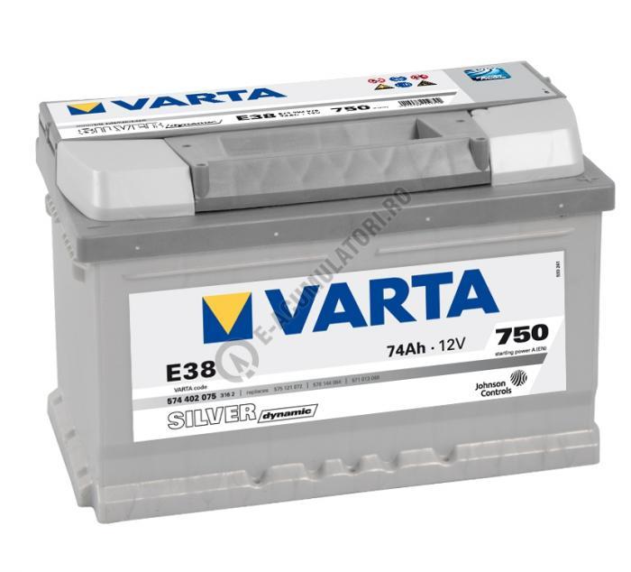 BATERIE AUTO VARTA SILVER 74 Ah cod E38 - 5744020753162-big