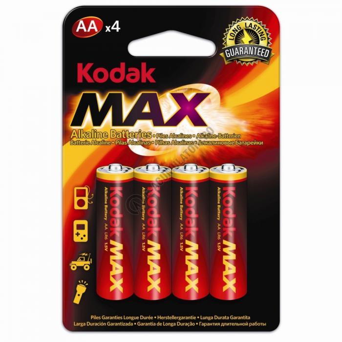 Baterii alcaline Kodak Max R6, AA, blister de 4 buc-big