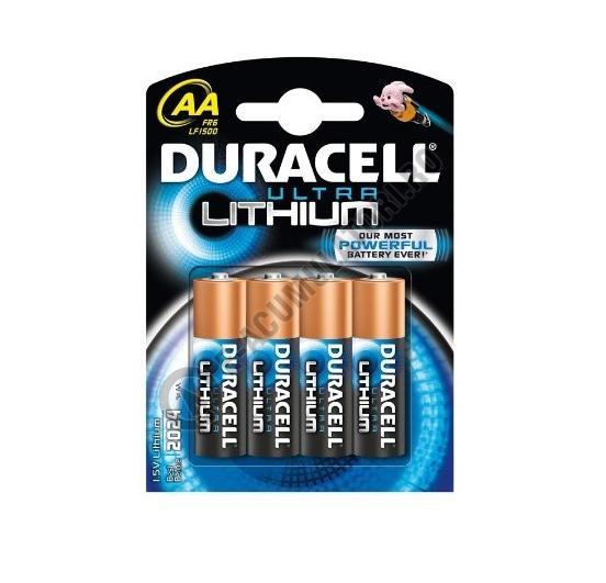 Baterii Duracell Ultra Lithium, AA, FR6, LF1500, blister 4 buc-big