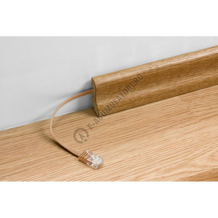 Cablu retea U/UTP PLAT CAT 6 2XRJ45 15 m bej Goobay cod 95883-big