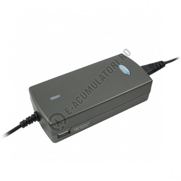 Incarcator Lenmar 90W pentru laptop cu un port USB, model LAC90-big
