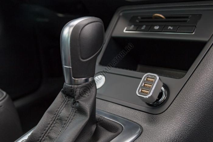 Incarcator auto Goobay Triple USB 5.5 A cod 44211-big