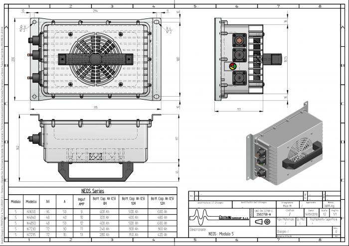 Incarcator de baterii 48V 50A NEOS N4850-big