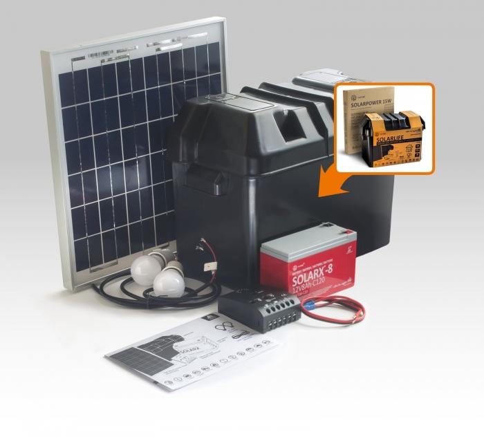 Kit solar Xunzel Off-Grid complet pentru iluminat SOLARLIFE15I-big