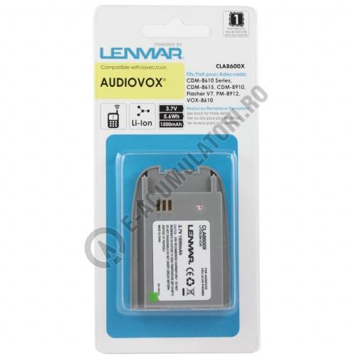 Lenmar Replacement Battery for Audiovox CDM-8610, CDM-8615, CDM-8910 Cellular Phones-big