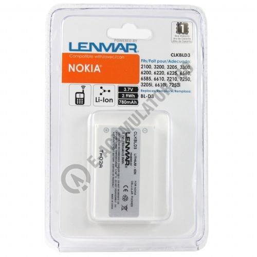 Lenmar Replacement Battery for Nokia 3200, 3205, 3300, 6200, 6220 Cellular Phones-big