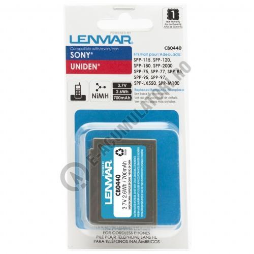 Lenmar Replacement Battery for Sony SPP-115, SPP-120, SPP-180 Cordless Phones-big