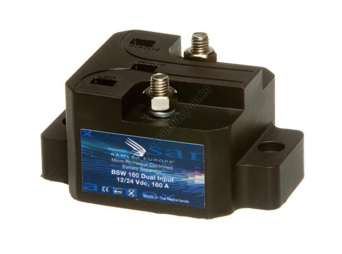 Separator automat de incarcare baterii 12/24V SAMLEX cod BSW 160 DUAL-big