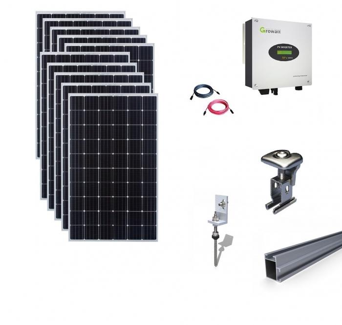 Sistem fotovoltaic on-grid Growatt 3kwp prindere tabla-big
