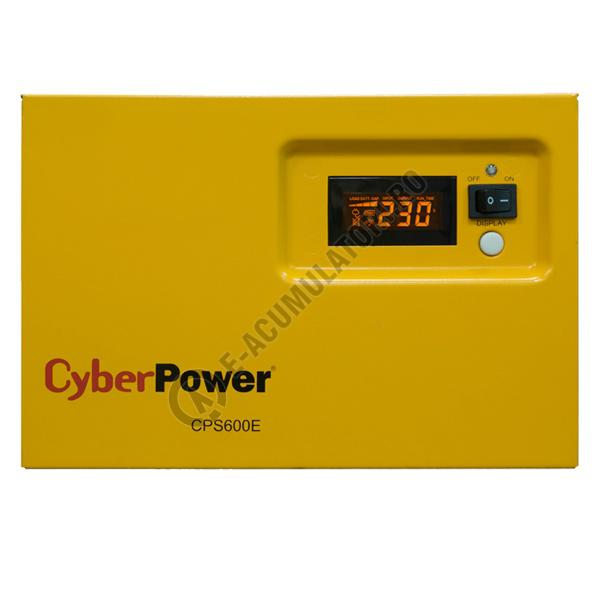 UPS pentru centrale termice Cyber Power CPS600E 600VA 420W + Acumulator 12V 72 Ah-big