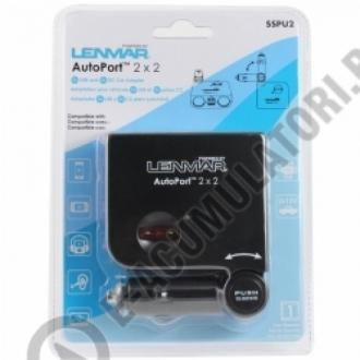 Lenmar AutoPort 2x2 - 2x USB si 2x Adaptoare auto 12V, model SSPU20