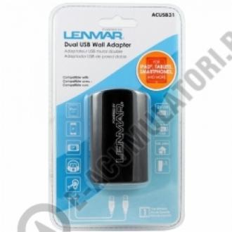 Incarcator DUAL USB LEMNAR pentru iPad/Tablete + Smartphone 3,1 A ACUSB31E0