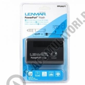 Lenmar PowerPort Flash - Baterie portabila cu 2 porturi USB si incarcator cu lanterna, model PPUALF10