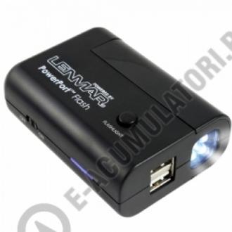 Lenmar PowerPort Flash - Baterie portabila cu 2 porturi USB si incarcator cu lanterna, model PPUALF11