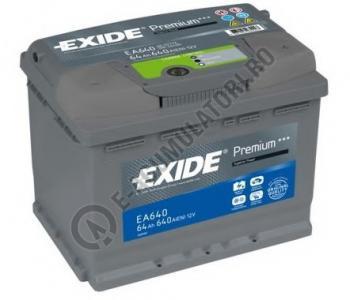 Acumulator Auto Exide Premium 64 Ah cod EA6400