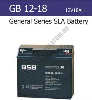Acumulator VRLA BSB 12V 18 Ah cod GB12-180