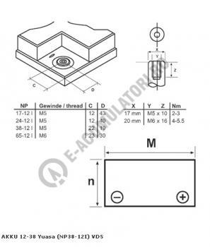 Acumulator VRLA Genesis 12V, 38Ah NP38-121