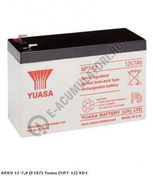 Acumulator VRLA Yuasa 12V, 7Ah NP7-120
