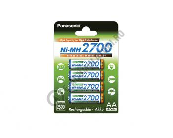 Acumulatori Panasonic AA, 2700 mAh, blister de 4 buc. BK-3HGAE/4BE0