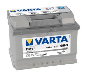 BATERIE AUTO VARTA SILVER 61 Ah cod D21 - 56140006031622