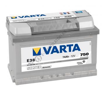 BATERIE AUTO VARTA SILVER 74 Ah cod E38 - 57440207531622