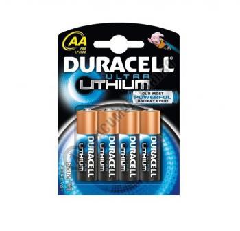 Baterii Duracell Ultra Lithium, AA, FR6, LF1500, blister 4 buc0