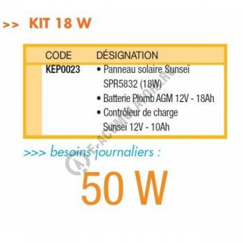 Kit solar autonom 20 Wc, consum maxim 50 W/zi4