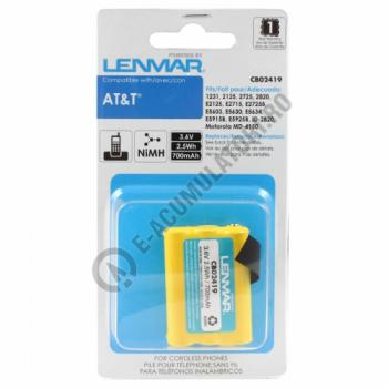 Lenmar Replacement Battery for AT&T 1231, 2125, 2725 Cordless Phones1