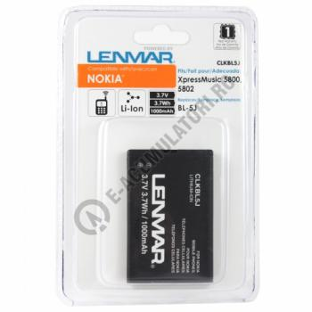 Lenmar Replacement Battery for Nokia 5800 XpressMusic,5802 XpressMusic Cellular Phones1
