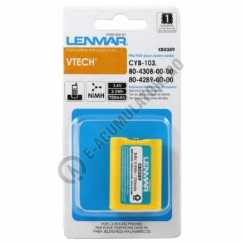 Lenmar Replacement Battery for V-Tech 1421, 1511, 92-1421 Cordless Phones1