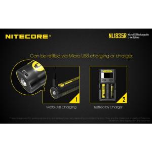 Acumulator Reincarcabil USB 18650 Li-Ion 3500 mah Nitecore NL1835R1