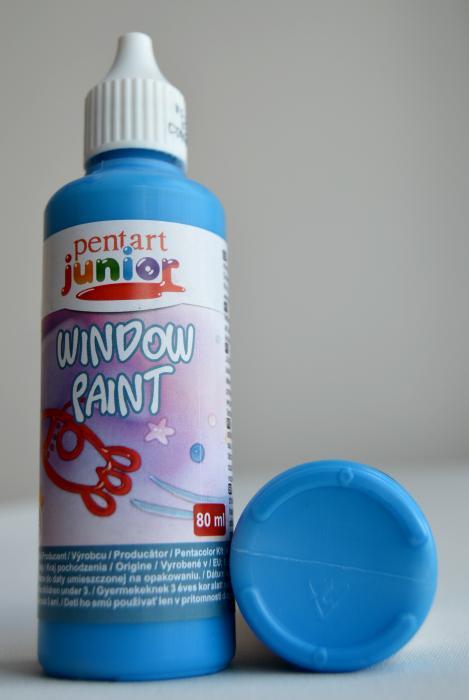 Window paint albastru 80 ml