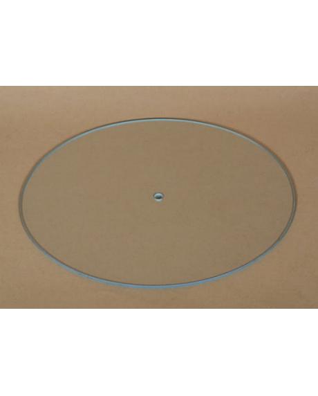 Cadran ceas din sticla oval 27x22 cm