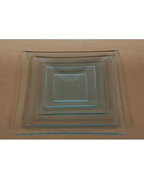 Platou sticla patrat 10x10 cm